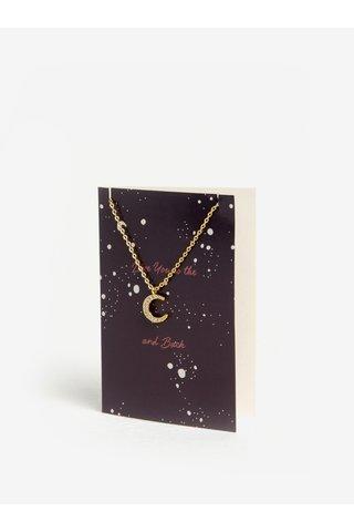 Náramek s přívěškem měsíce ve zlaté barvě Pieces Anchor