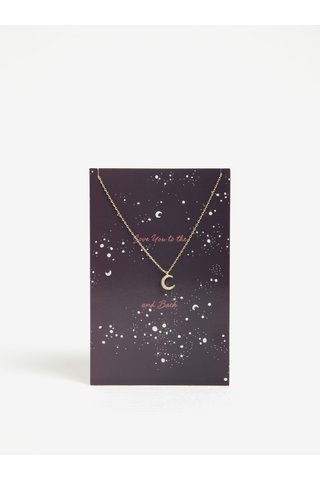 Colier auriu cu pandantiv semiluna Pieces Anchor