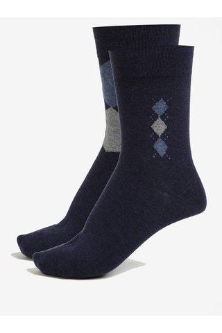 Sada dvou párů pánských ponožek v tmavě modré barvě JELL
