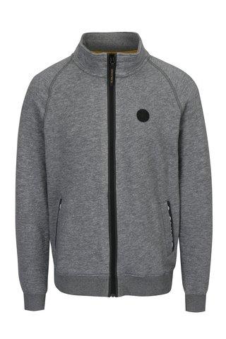 Jacheta gri cu guler inalt si logo pentru barbati s.Oliver