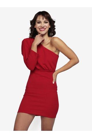 Rochie mini rosie asimetrica - MISSGUIDED