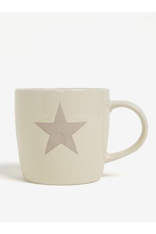 Cana ceramica crem cu stea decorativa - Dakls