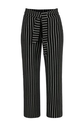 Pantaloni negri in dungi cu talie inalta Miss Selfridge Petites