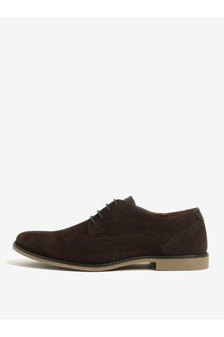Pantofi maro cu aspect de piele intoarsa Burton Menswear London