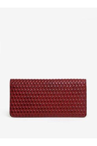Červená dámská kožená vzorovaná peněženka ELEGA Amina