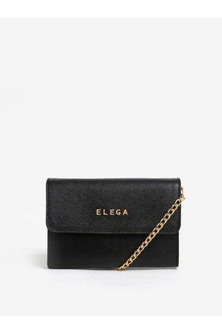 Černé kožené psaníčko ELEGA Sherry