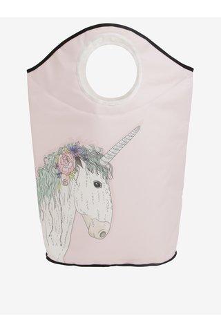 Cos de rufe roz deschis cu print unicorn - Butter Kings