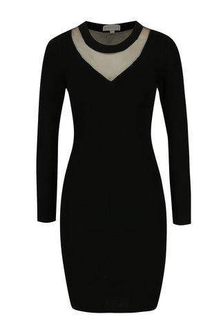 Rochie neagra cu plasa Apricot