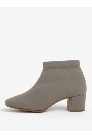 Béžové kotníkové boty na nízkém podpatku OJJU