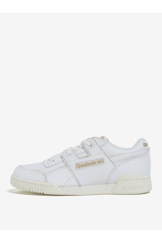 Pantofi sport albi din piele naturala pentru barbati - Reebok Workout Plus ALR