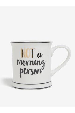 Krémový hrnek Not a Morning Person Sass & Belle