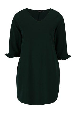 Rochie verde cu maneci 3/4 si volane - Dorothy Perkins Curve