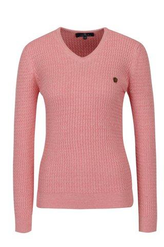 Pulover roz cu model in relief pentru femei - Jimmy Sanders