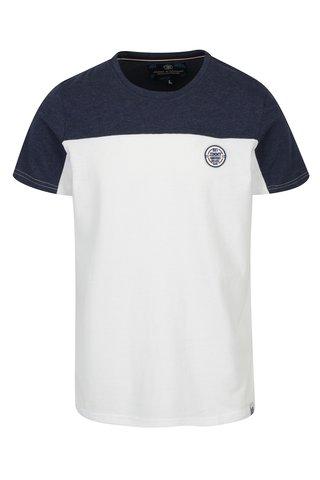 Tricou alb&bleumarin cu logo brodat pentru barbati Jimmy Sanders
