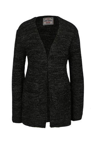 Cardigan negru din amestec de lana pentru barbati Jimmy Sanders