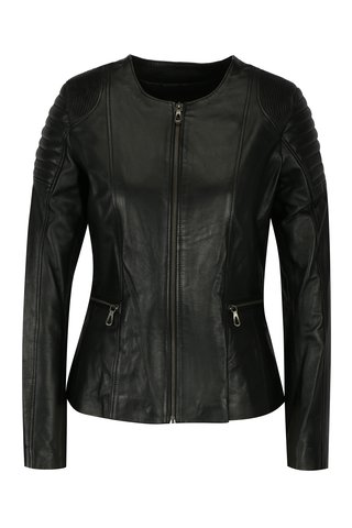 Jacheta biker neagra din piele cu detalii pentru femei - Jimmy Sanders