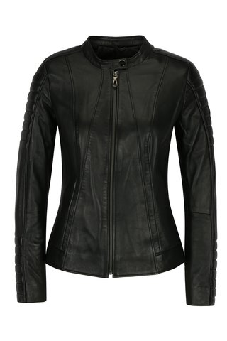 Jacheta biker neagra din piele naturala pentru femei - Jimmy Sanders Andria