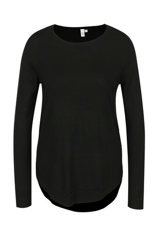 Pulover negru cu terminatii rotunde pentru femei s.Oliver