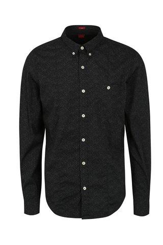Camasa neagra cu print abstract pentru barbati - s.Oliver