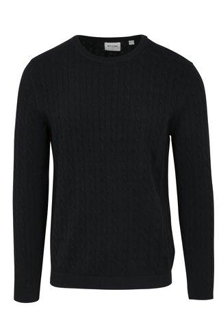 Pulover bleumarin tricotat cu torsade - ONLY & SONS Alex