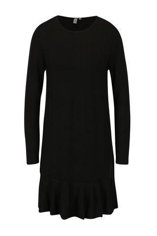 Rochie - pulover neagra cu volane - QS by s.Oliver
