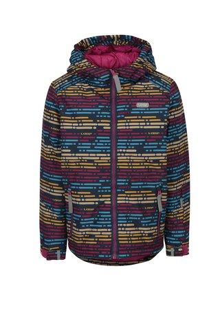 Růžová holčičí vzorovaná zimní bunda LOAP Zengo