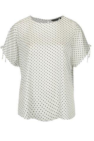 Bluza alba cu buline negre din catifea - Dorothy Perkins Curve