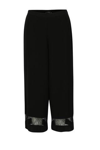 Pantaloni culottes negri cu detalii din dantela - Dorothy Perkins