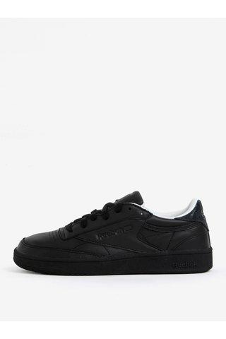 Pantofi sport negri din piele pentru femei Reebok