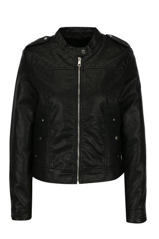 Jacheta neagra biker din piele sintetica  VERO MODA Alice