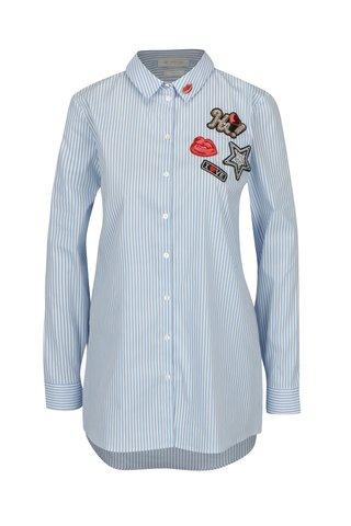 Camasa bleu & alb cu dungi si aplicatii - Rich & Royal
