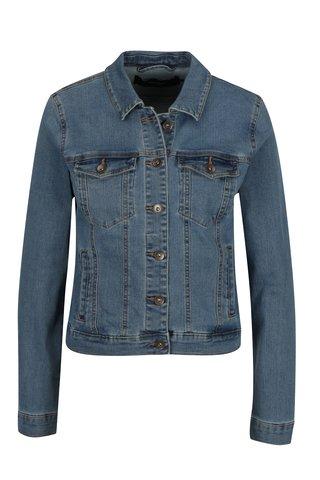 Jacheta albastra din denim cu buzunare - VERO MODA Hot Soya