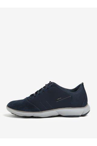 Pantofi sport albastri din piele intoarsa pentru barbati Geox Nebula
