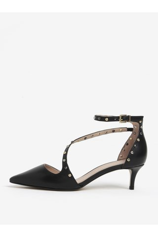Pantofi negri din piele cu toc kitten si barete - Carvela Aspire NP