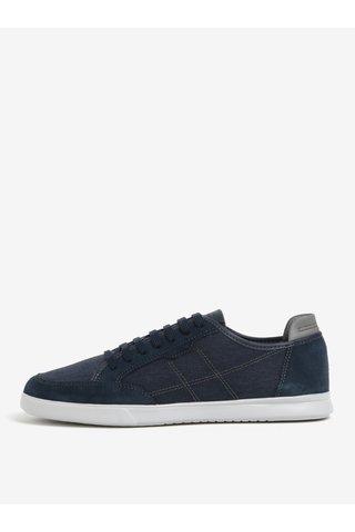 Pantofi sport albastri cu piele intoarsa pentru barbati  Geox Walee