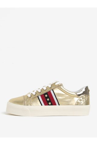 Pantofi spot aurii din piele si platforma - Carvela Kurt Geiger  Lax NP
