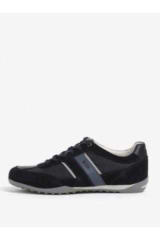 Pantofi sport albastri din piele intoarsa pentru barbati Geox Wells