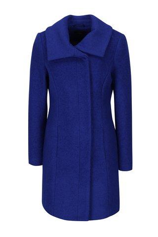 Palton albastru cambrat cu amestec de lana - M&Co