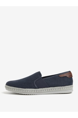 Pantofi slip on albastri pentru barbati Geox Copacabana