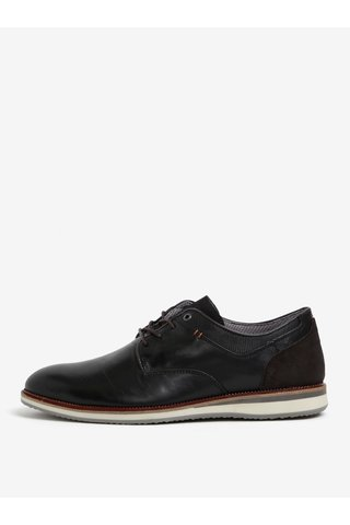 Pantofi negri din piele pentru barbati Dune London Bodyguard