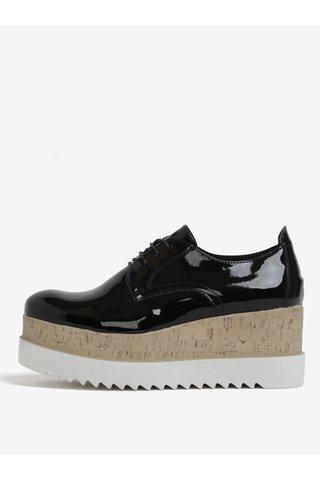 Pantofi negri cu platforma inalta Tamaris