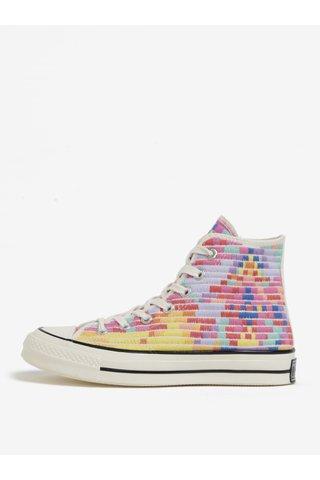 Bascheti inalti cu model geometric multicolor pentru femei -  Converse Chuck Taylor All Star 1970s