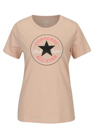 Tricou roz deschis cu print pentru femei -  Converse Core