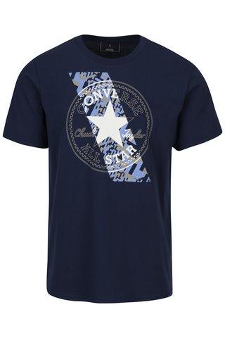 Tricou bleumarin din bumbac cu print pentru barbati - Converse Chuckpatch