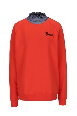 Bluza rosie cu guler din denim -  Scotch & Soda