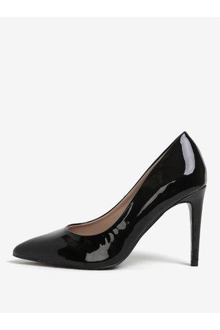 Pantofi lacuiti negri cu animal print pe talpa Dorothy Perkins
