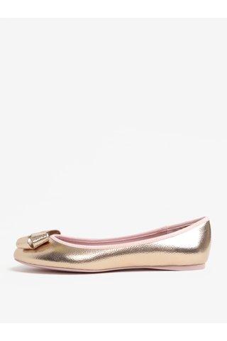 Balerini roz auriu cu funda Ted Baker Immet