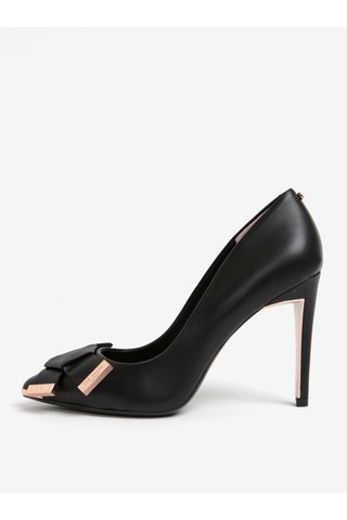 Pantofi negri din piele cu funda Ted Baker Ayelar