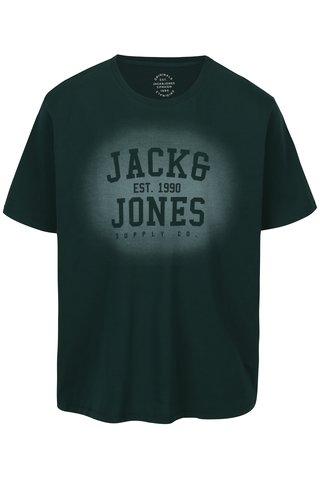 Tmavě zelené tričko s potiskem Jack & Jones Stencild