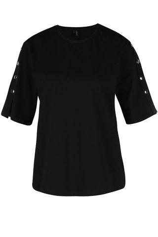 Tricou negru cu aplicatii pe umeri - VERO MODA Jane